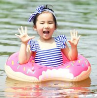 Wholesale Girls Inflatable - 60cm 70cm Donut Swimming Ring for Children Kids Inflatable Swimming Float Baby Boys Girls Swimming Pool Summer Water Toys