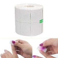 Wholesale Nail Polish Remover Cotton - 500Pcs Roll White Nail Tools Nail Polish Gel Remover Wipes Nail Art Tips Manicure Clean Wipes Cotton Lint Pads Paper