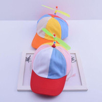 Wholesale Dragonfly Propeller - Wholesale- Fashionable child propeller baseball cap cute dragonfly hat BOY hip hop hat novelty girl sun hat free shipping