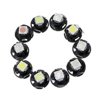 Wholesale Auto Led Light Replacements - T4.7 Wedge LED Bulbs Car Truck Auto HVAC A C Climate Heater Panel Controls Replacement Light 12V for 2003-2011Dodge Dakota