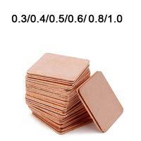 disipador de calor portátil al por mayor-Al por mayor- 10 piezas 15mmx15mmx 0.8mm Heatsink cobre Shim Thermal Pads para Laptop GPU VAG PAD