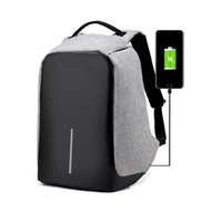 Wholesale Computer Capacity - Multifunction Anti-theft Laptop Notebook Backpack With USB Charging Port Oxford fabric Large Capacity Hidden Zipper Travel Backpacks