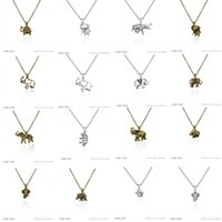 Wholesale Elephant Body Jewelry - Elephants Charms Fashion Silver Pendant Collar Body Chain Pendant Necklaces for Women Girls Boys Gift Jewelry