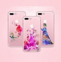 PU paint abs plastic - Beautiful Snow White Princess TPU painting cell phone Case For iPhone S S Plus case ultra thin soft TPU back silicone phone cover shell