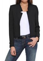 Wholesale Womens Shorts Jacket Suit - wholesale womens suit Blazers Casual short blazer jacket Slim to take small suit jacket womens top