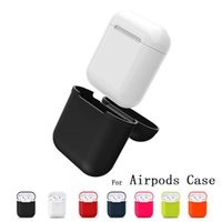 Wholesale Pink Iphone Chargers - for Apple Airpods Charger Case Soft Silicone Air Pods Case WaterProof Cover for iPhone 7 Accessories Airpods Charging Cover