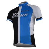 Wholesale Blanco Cycling Jersey Bib Short - BLANCO team Summer Cycling Jerseys Ropa Ciclismo Breathable Bike Clothing Quick-Dry Bicycle Sportwear GEL Pad Bike Bib Pants A04
