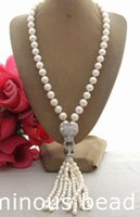 FC010205 11MM PearlRhinestone Pendant Necklace