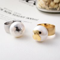 Wholesale The Spanish hot cartoon adorable bear Pearl Ring