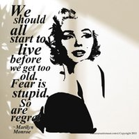 Graphic Vinyl PVC People Sexy Marilyn Monroe Wall Decal Stickers Home Decor  Easy Removable Sticker Waterproof Wallpaper Princess Decroom Mural D188 Part 90