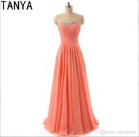 Wholesale Pleated Charmeuse - 2017 A Line Sweetheart Modest Country Short Bridesmaid Dresses Charmeuse Sweep Train Backless Sleeveless Chiffon Summer Spring Dresses
