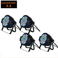 Wholesale Wholesale Dj Lighting Equipment - 4Pcs Lot 54x3W Led Par Light RGBW single color LED Par64 Light 4 8DMX Channels control,DMX Par Stage Light DJ Equipment 90V-240V TP-P54A