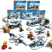 Wholesale Models Toys Hobbies - WANGE 51011-51015 Building Blocks Sets 3 in 1 Police Series Car Helicopter Model Blocks Kids Educational Bricks Toys Gift Hobbies Lepin