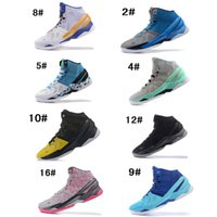 Wholesale Long Black Shoes For Men - Stephen Curry 2 Basketball Shoes For Mens 2 Rings Mother's Day Electric Blue Surprise Party Birthday Long Shot All Star Sports Sneakers