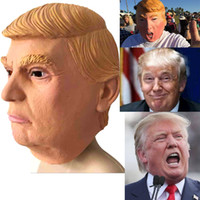 Wholesale USA President Candidate Mr Trump Latex mask Halloween Party Masks Latex Face cover Billionaire Presidential Donald Trump Latex Mask in stock