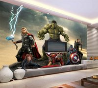 Compra Foto Di Decorazione-Carta da parati 3D The Avengers Photo Wallpaper Movie Murale Marvel Heroes Ragazzi Kids Girls Room decor Camera da letto Cool Home Decoration
