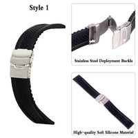 20109 3Styles Relógios de esportes Band 220mm 221mm 240mm Softes mens Rubber Strap Steel Buckle Bracelet Relógio de pulsoBand watches accessories 7 #