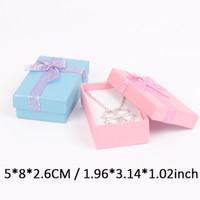 ingrosso piccoli sacchetti di souvenir di gioielli-Confezioni regalo da 12 scatole per scatolina portagioie scatole porta fermagli o anello 5 * 8 cm