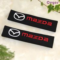 gürtel emblem großhandel-Auto Sicherheitsgurt Abdeckung Fall Auto Embleme für Mazda 3 6 cx-5 2 cx7 929 Schulterpolster Sicherheitsgurt Abdeckung Auto Zubehör Styling