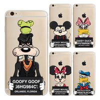 Wholesale Character Iphone 4s Cases - Cartoon Crime Mickey Character Clear Soft Silicone TPU Cell Phone Case for iphone X 8 7 6S Plus 5S 5C 4S Back Cover