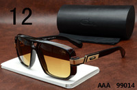 cheap cazal 99014 sunglasses brown frame orange lenses polarized glasses famous eyewear brand new designer luxury vintage eyeglasses