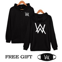 Wholesale Hip Hop Clothing 4xl - Wholesale- Hip Hop Streetwear Alan Walker DJ Hoodies High Quality Hooded Sweatshirt Men & Women Zipper Hoodie Casual Loose Brand Clothing
