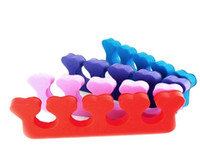 01235 sponge toes - Hot selling Sponge Manicure Pedicure Soft Nail Form Spacer Nail Art Finger Toe Separator Random Color