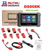 mitsubishi tableta al por mayor-AUTEL MaxiDAS DS808 DS808K KIT Tableta Herramienta de diagnóstico Conjunto completo Soporte Inyector Key Coding Support Multi-languages