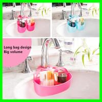 Wholesale Wholesale Kitchen Sinks Faucets - Big 2 Bags Kitchen Hanging Holder Bathroom Soap Holder Sponge Holder Sink Kitchen Sponges Drain And Faucets Storage Rack