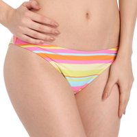 Wholesale Large Ladies Underwear - Lady And Girl Large Summer Bikini Rainbow Stripes Trunks Upscale Nylon Triangle underwear trousers One Piece DF5 Size (L XL 2XL 3XL)