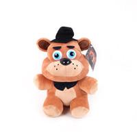 dolmalık palyaço oyuncakları toptan satış-2017 25-30 cm FNAF Beş Nights freddy'nin Peluş Freddy Ayı Chica Bonnie Palyaço Balon Çocuk Foxy Peluş Doldurulmuş Oyuncaklar Doll