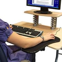 pad pour ordinateur achat en gros de-Support de bras d'ordinateur Tapis de souris Poignet Main épaule Repos Tapis Double Attachement Ergonomique Attachable Pour Table Chaise / Bureau Extender