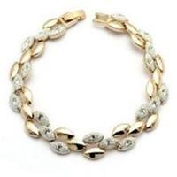 ingrosso braccialetti del braccialetto dell'oro del braccialetto-Eleganti bracciali a catena con diamanti placcati oro 18 carati e braccialetti di gemme per regalo di Natale di gioielli di tendenza da donna