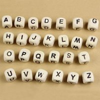 Wholesale Wooden Clip For Pacifier - Wholesale-260pcs Letter Beads for Customize Name on Pacifier Clips Mixed Shape Wooden Alphabet Beads for Any Name on Pacifier Chain DIY