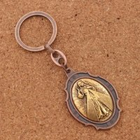 Wholesale holy ring for sale - Group buy 12pcs Catholic Clergy Gift Church Chapel Jesus Christ Divine Mercy Hanging Holy Water Font Medal KeyChain Key Ring K1736 colors
