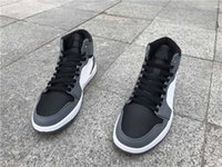 Wholesale Cool Shoes For Sale - Drop Shipping Air Retro 1 Rare Air Cool Grey For Men Shoes Size 41-47 Free Shipping With Box In Sale