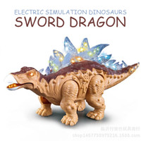 Wholesale Electric sword dragon toy Jurassic family intelligent touch induction simulation dinosaur light music sound realistic gifts and toys