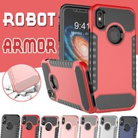 Robot Armor Combo Case Defender Electroplate Plating Outdoor Shockproof Hybrid TPU PC Cover para iPhone X 8 7 Plus 6 6S Samsung Note 8 S8