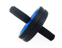Wholesale home equipment - ab roller wheel for abdominal exercise home fitness equipment double wheel roller