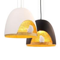 Wholesale Birds Light Fixtures - Nordic bird resin pendant lights bedroom balcony creative personality Cafe modern minimalist bar E27 droplight Light Fixture