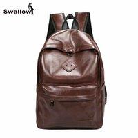 Wholesale Korea Brand Leather Bag - Korea Style Brand Fashion Women Backpack High Quality Artificial Leather School Male Bags Female Backpacks Mochila Feminina