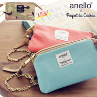 Wholesale Korean Womens Wallet - New Color PaquetduCadeau&anello Japan Womens Wallets Coin Purses Card HoldersWaterproof Bag Polyester Original Accessories Free shipping