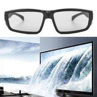 Wholesale Real D 3d Glasses - Wholesale- Portable 3D Glasses Black 3D Polarized Passive Glasses H4 RD3 For TV Real D 3D Cinemas
