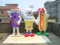 Wholesale Mascot Dog Costume Sale - 2016 NEW Adult Dairy Queen mascot costume Hot Dog mascot Dairy Queen costume DQ mascot costume for sale just like the picture