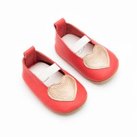 Wholesale Love Cute Baby Boy - Everweekend Sweet Baby Girls Boys Pu Leather Shoes Non-Slip Love Shoes Candy Beige Pink Black Color Cute Children Shoes