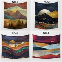 Wholesale natural style landscaping - Natural Landscape Tapestry Wall Tapestry Style Summer Beach Sunrise Sunset Shawl Towel Hanging Decor Home Additions