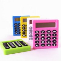 Wholesale Mini Calculator Gift - 2017 New Student Mini Electronic Calculator Candy Color Calculating Office Supplies Gift