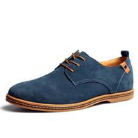 Wholesale Wholesale Shoes Big Sizes Men - Wholesale- 2017 Hot Shoes Men Outdoor Spring Autumn Winter Oxfords Style Leather Casual Shoes Flat Warm Men Shoes Plus Big Size 39-48