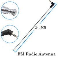 Wholesale Mobile Cell Phone Antenna - Free Shipping 10pcs Telescopic Antenna 3.5mm Male Plug Connector FM Radio Antenna for Mobile Cell Phone Mp3 Mp4 Speakers 245mm Length