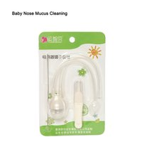 Wholesale Baby Nasal Cleaner - Wholesale-Infant Newborn Baby Care Safety Nose Nasal Mucus Runny Cleaner Aspirator Vacuum Suction Inhale with Tweezer Cleaning Tool YI10+